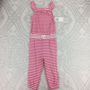 NWT Ralph Lauren Striped Smocked Jumpsuit 18 Mths